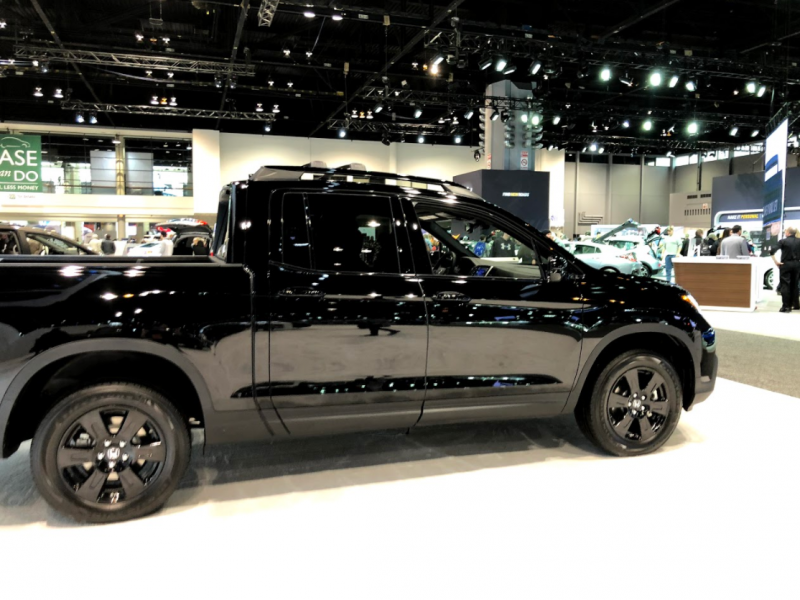full view of the 2018 Honda Ridgeline at the Chicago Auto Show