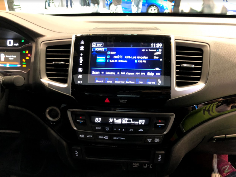 infotainment system inside the 2018 Honda Ridgeline at the Chicago Auto Show