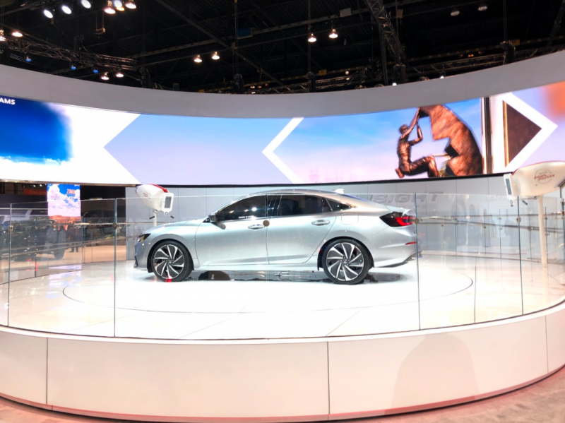full view of the 2019 Honda Insight Prototype at the Chicago Auto Show