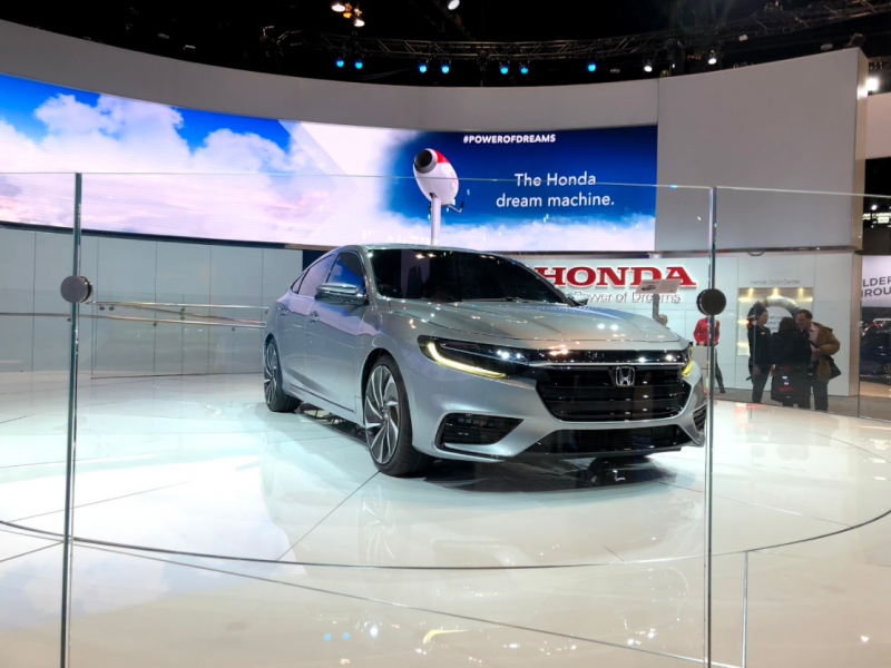 exterior side of the 2019 Honda Insight Prototype at the Chicago Auto Show
