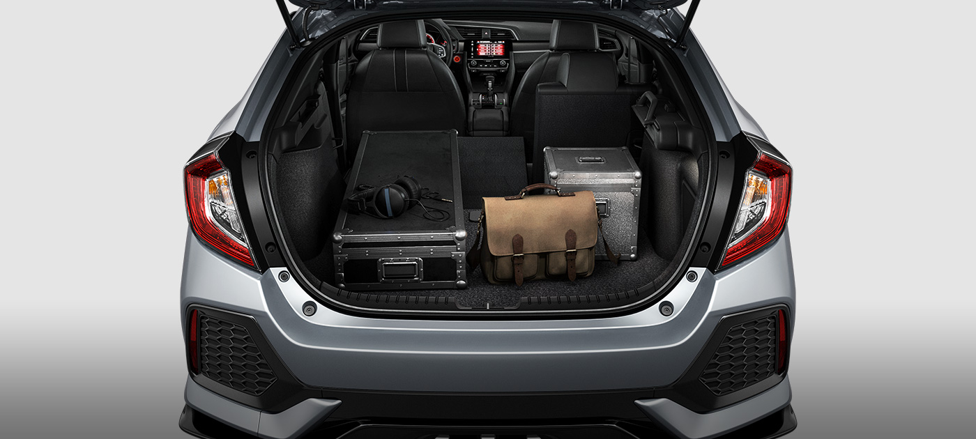 Cargo Space Inside The 2018 Honda Civic Hatchback With Seats Down