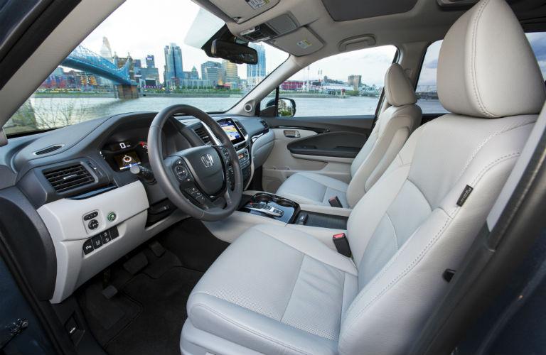 interior front of the 2018 Honda Pilot
