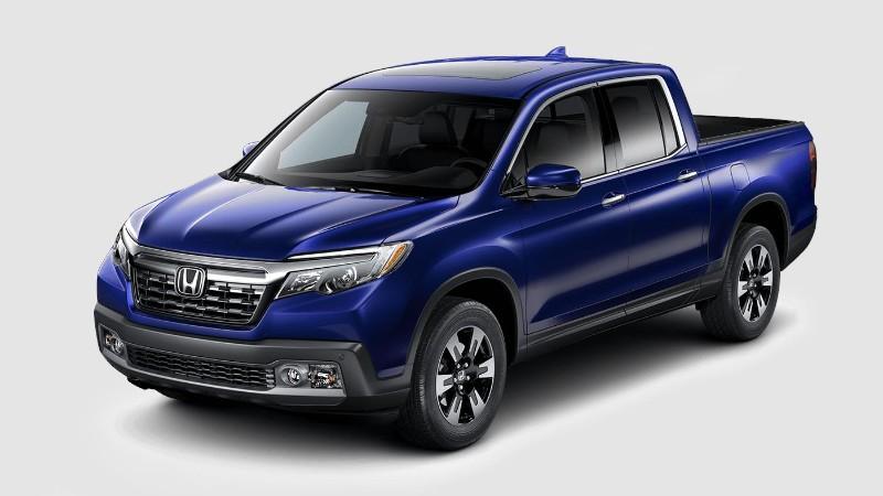 2018 Honda Ridgeline in Obsidian Blue Pearl