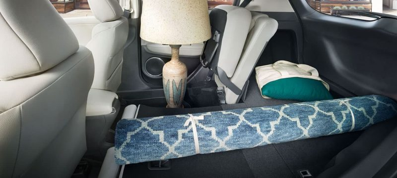 lamp stored inside the honda hr-v with its magic seat