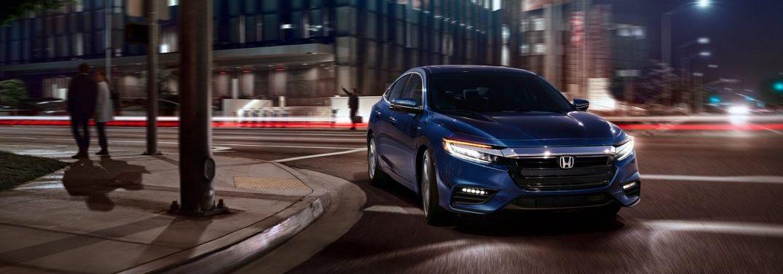 2018 Honda Insight turning a city corner