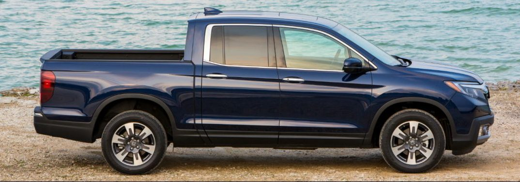 profile view of the 2019 honda ridgeline