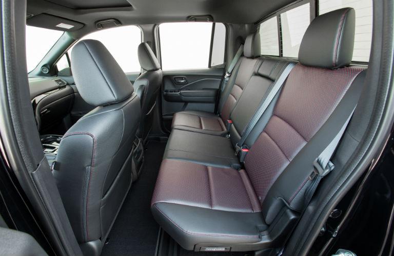2019 Honda Ridgeline rear seating
