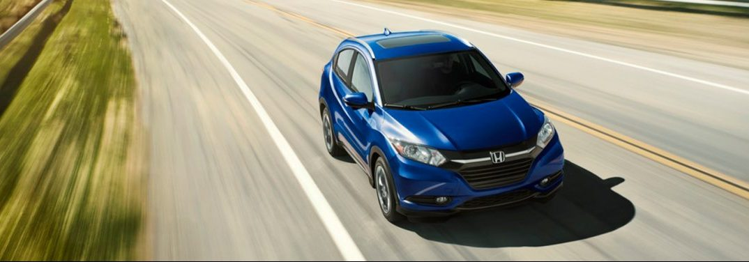 overhead view of the 2019 honda hr-v