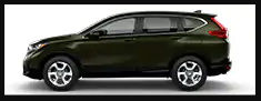 A green 2019 Honda CR-V EX in profile against a white background.