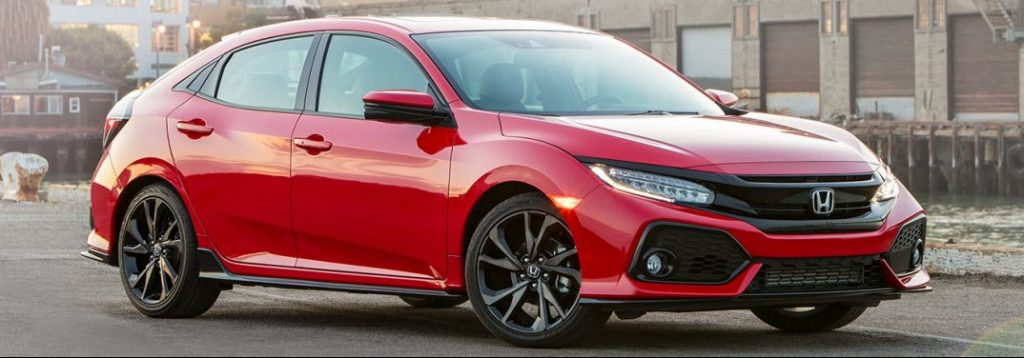 What colors does the 2019 Civic Hatchback come in?