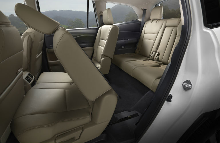 seating space inside the 2019 Honda Pilot