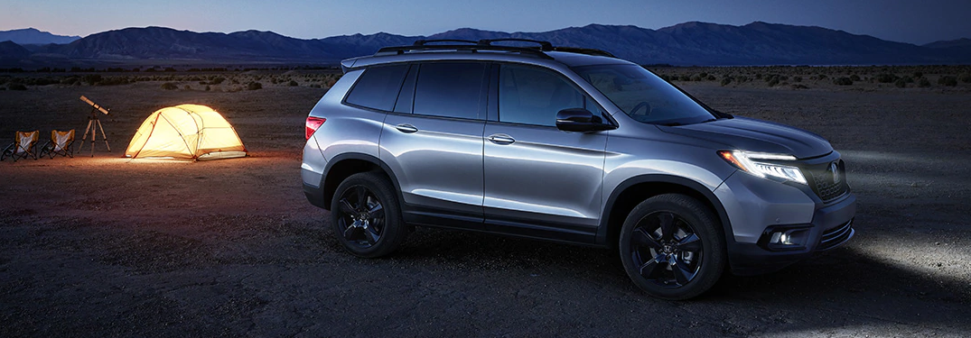 2019 Honda Passport on a dessert camping site