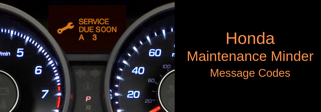 Honda Accord Maintenance Codes >> How To Read The Maintenance Minder Code Messages