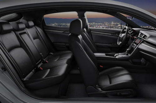 Cutaway side view of the interior of a 2020 Honda Civic.