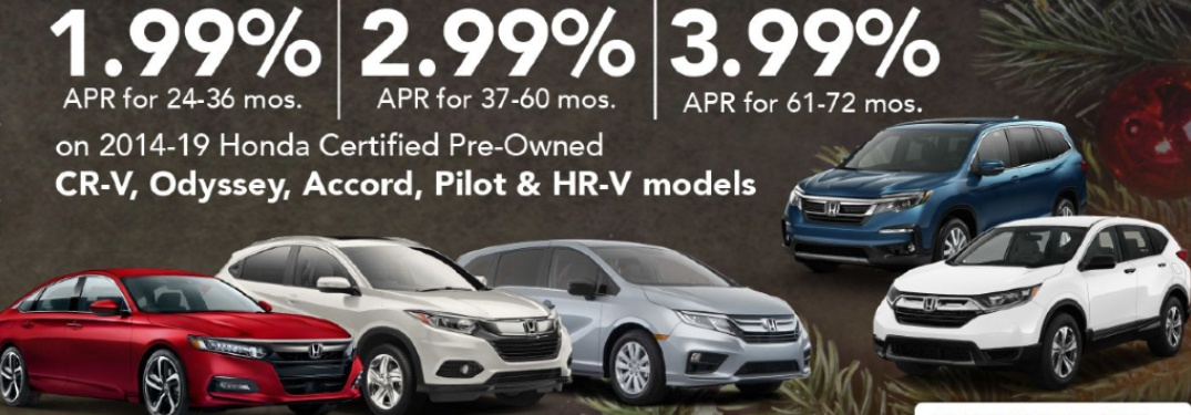 Banner advertising special financing rates in the Honda Certified Dream Deal Event.