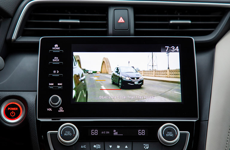 Side-view camera inside a 2020 Honda Insight
