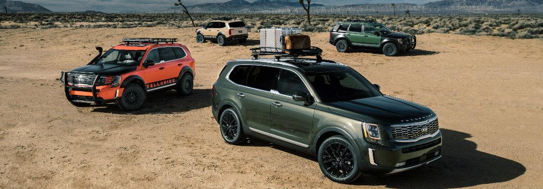 2020 Kia Telluride models in the desert