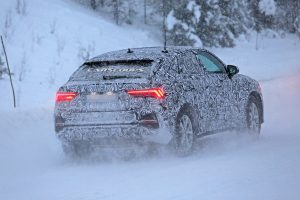 Audi Q4 Prototype Playing in the Snow!