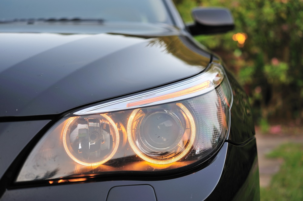 Headlight of BMW