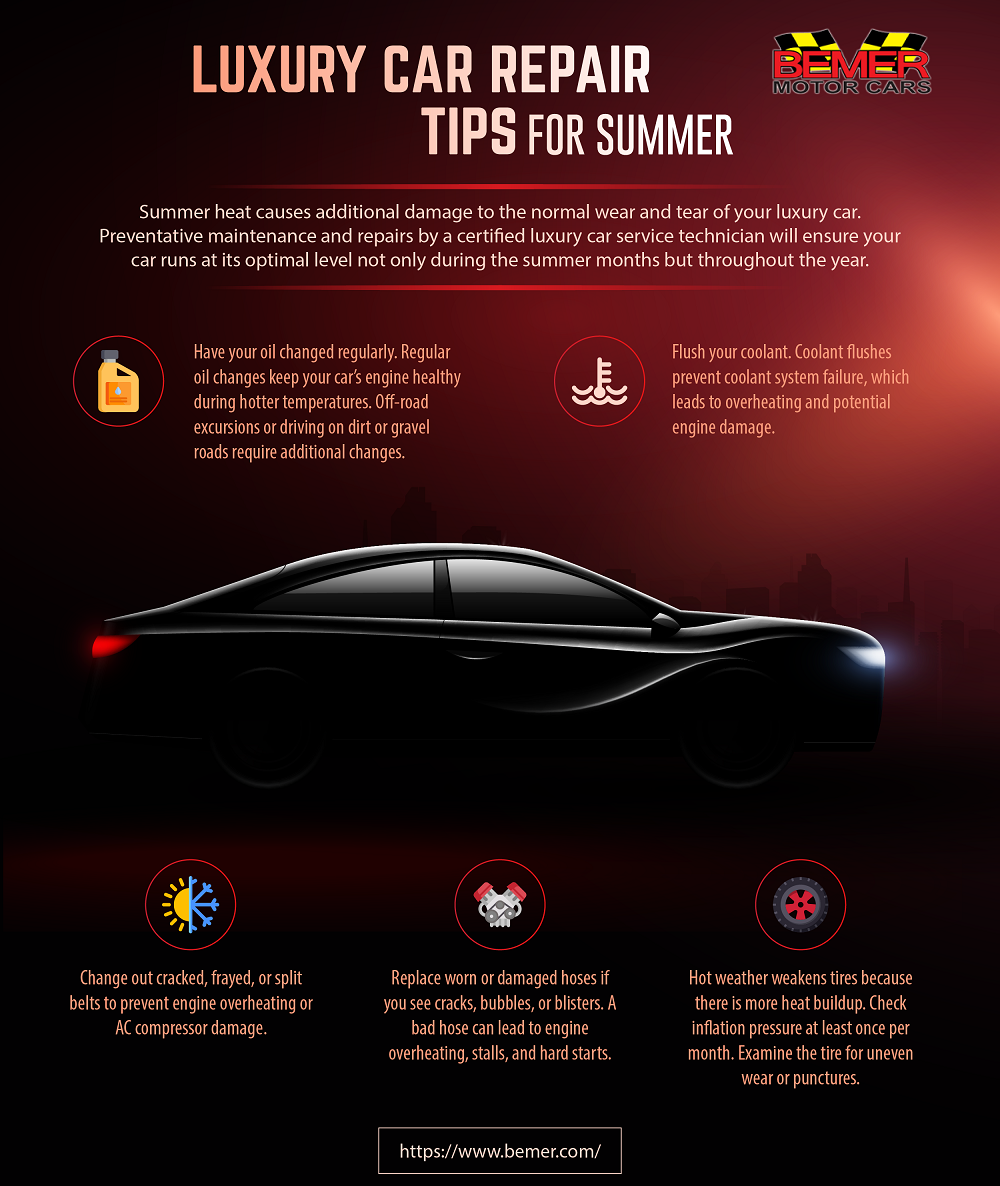 Luxury Car Repair Tips for Summer