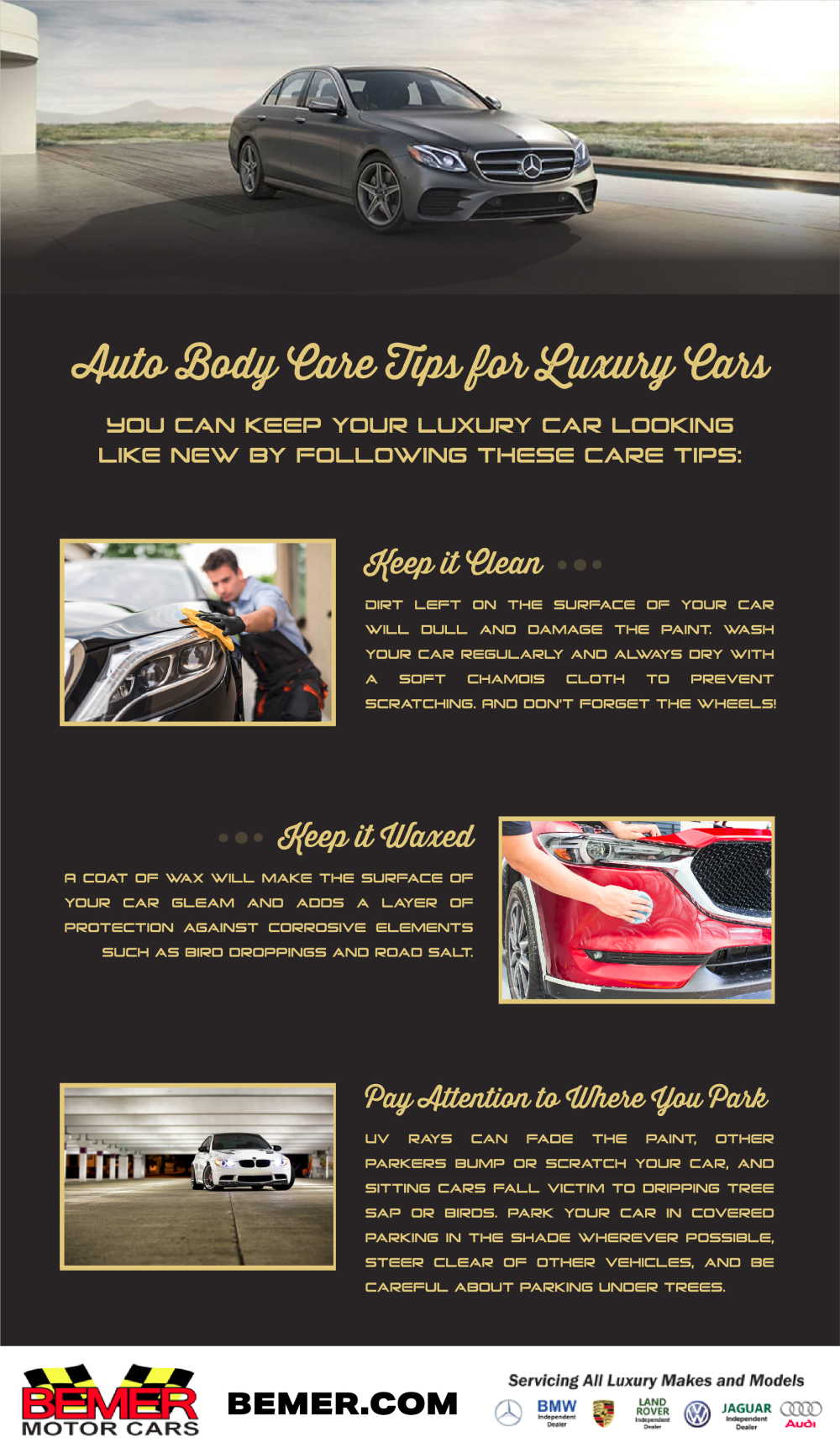 Auto Body Care Tips for Luxury Cars