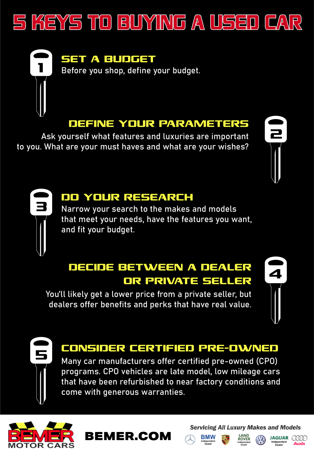 5 Keys to Buying a Used Car