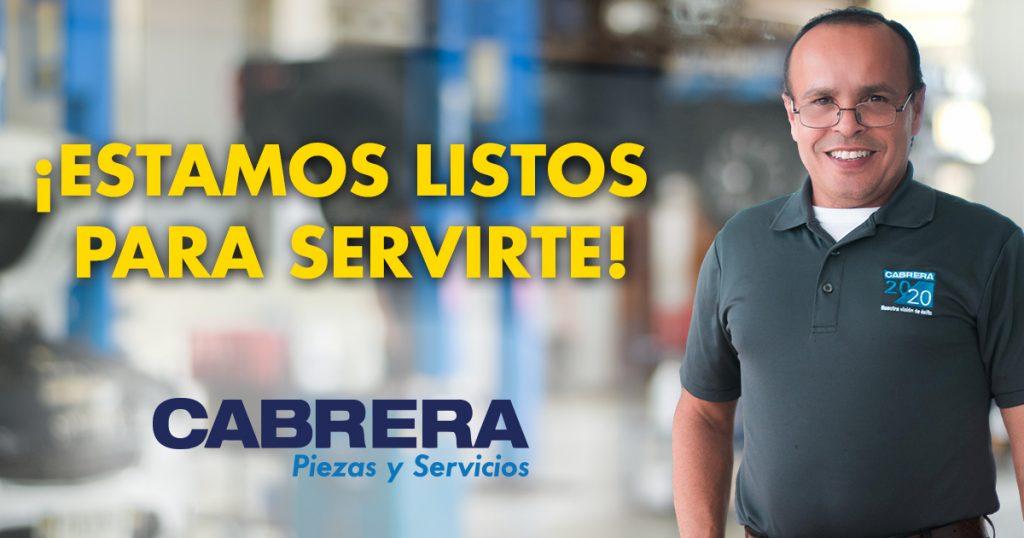 Cabrera Piezas y Servicios - Estamos listos para ayudarte