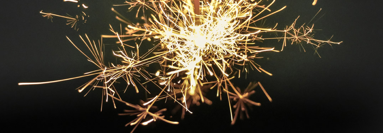 one firework on a black sky