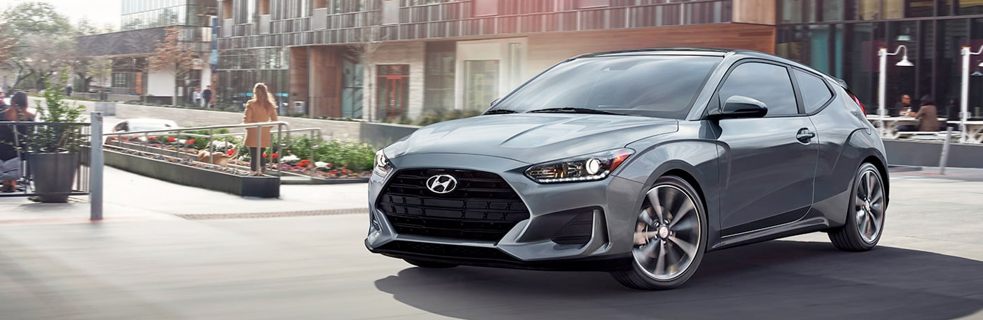 silver 2020 hyundai veloster front side view