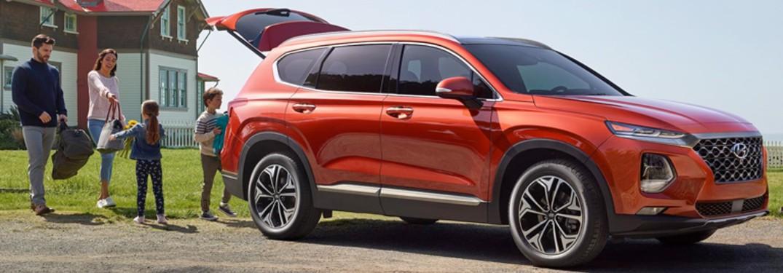 2020 Hyundai Santa Fe with family
