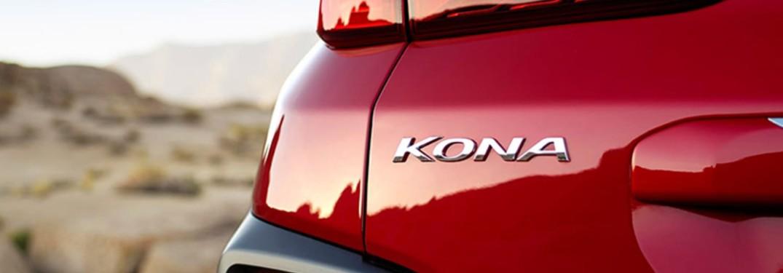 2020 Hyundai Kona logo close up
