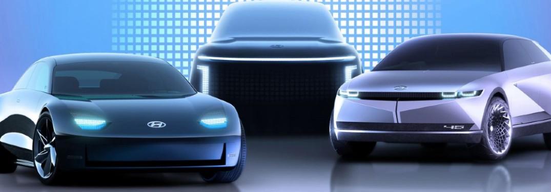 Hyundai Ioniq models in a row