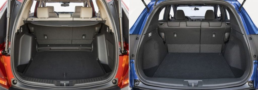 2019 Honda CR-V Rear Cargo Space and 2019 Honda HR-V Rear Cargo Space
