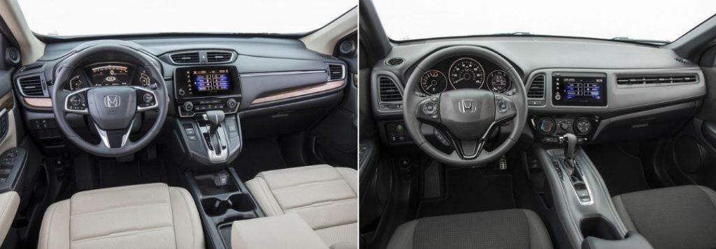 2019 Honda CR-V Front Interior and Dashboard and 2019 Honda HR-V Front Interior and Dashboard