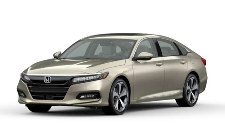 Champagne Frost Pearl 2020 Honda Accord on White Background