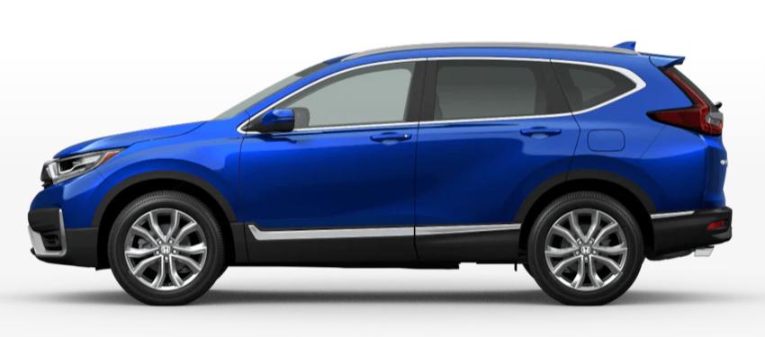 Aegean Blue Metallic 2020 Honda CR-V on White Background