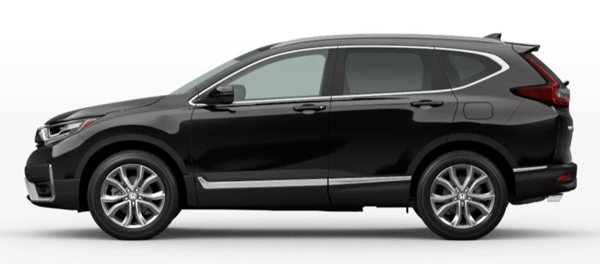 Crystal Black Pearl 2020 Honda CR-V on White Background