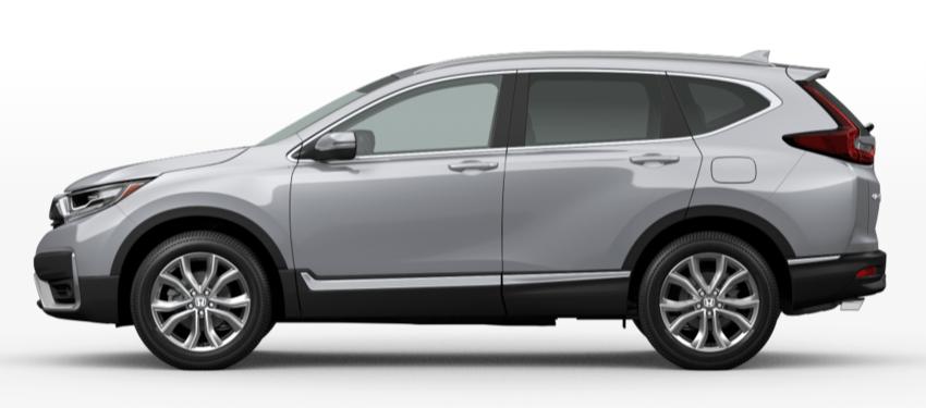 Lunar Silver Metallic 2020 Honda CR-V on White Background