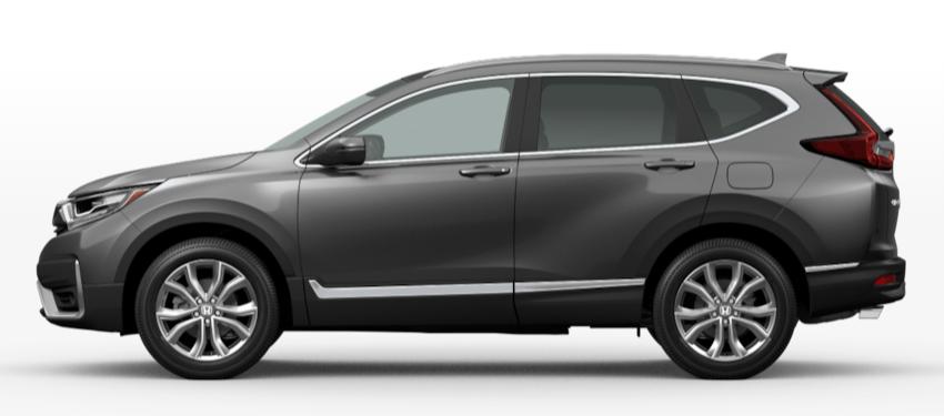 Modern Steel Metallic 2020 Honda CR-V on White Background
