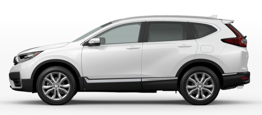 Platinum White Pearl 2020 Honda CR-V on White Background