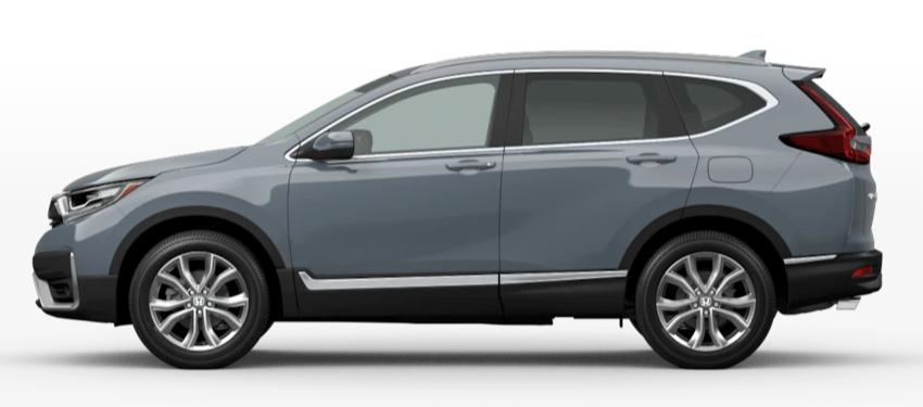 Sonic Gray Pearl 2020 Honda CR-V on White Background