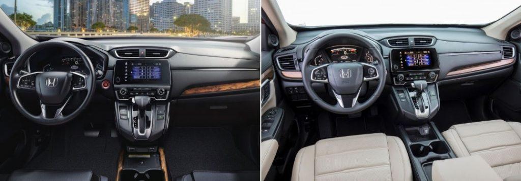 2020 Honda CR-V Front Interior vs 2019 Honda CR-V Front Interior
