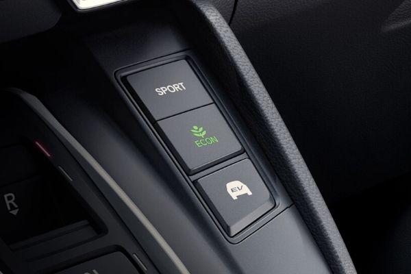 Close Up of 2020 Honda CR-V Hybrid Drive Mode Buttons