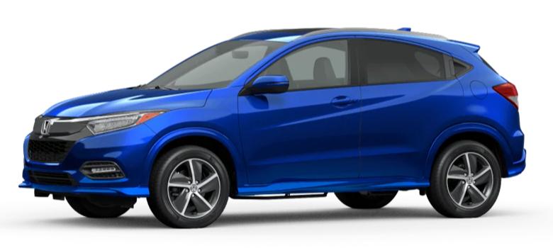 Aegean Blue Metallic 2020 Honda HR-V on White Background