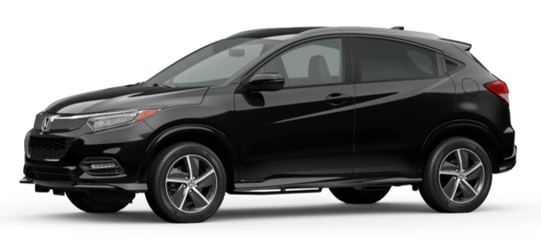 Crystal Black Pearl 2020 Honda HR-V on White Background