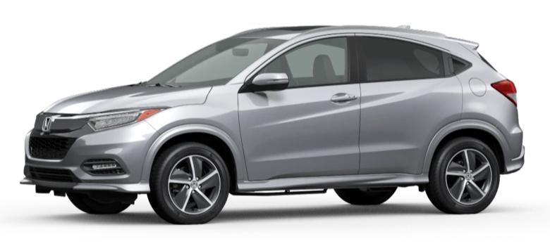 Lunar Silver Metallic 2020 Honda HR-V on White Background