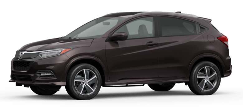 Midnight Amethyst Metallic 2020 Honda HR-V on White Background