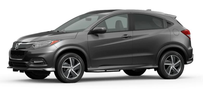 Modern Steel Metallic 2020 Honda HR-V on White Background
