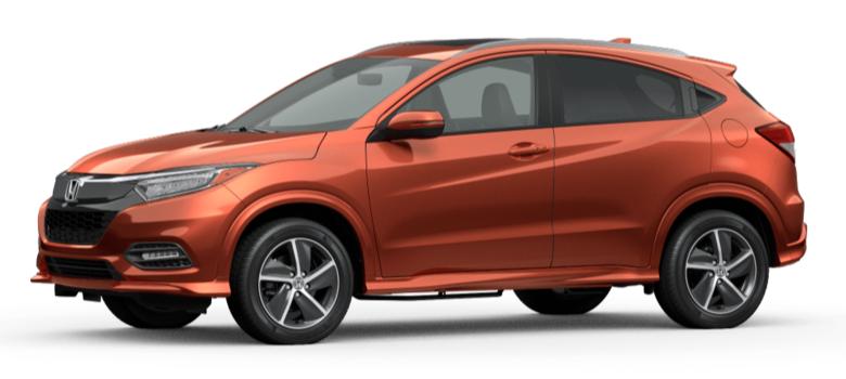 Orangeburst Metallic 2020 Honda HR-V on White Background