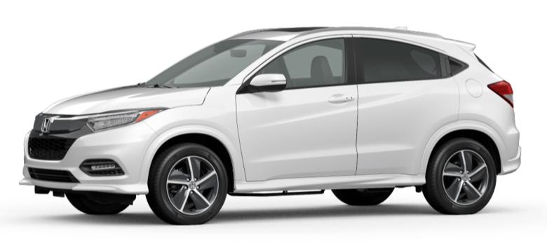 Platinum White Pearl 2020 Honda HR-V on White Background